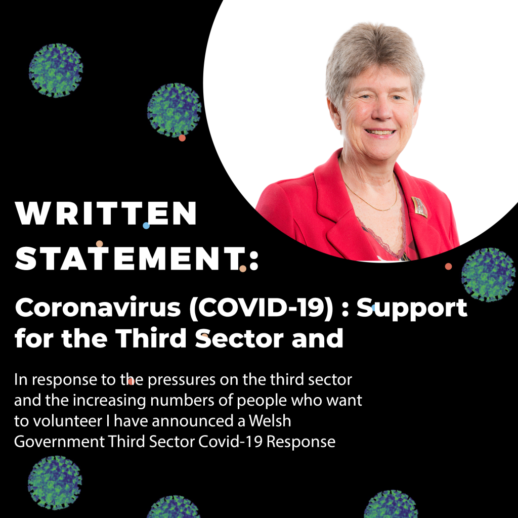 jane hutt am deputy minister and chief whip coronavirus covid 19 support for the third sector and volunteering