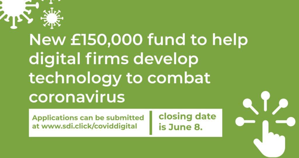 new 150 000 fund to help digital firms develop technology to combat coronavirus